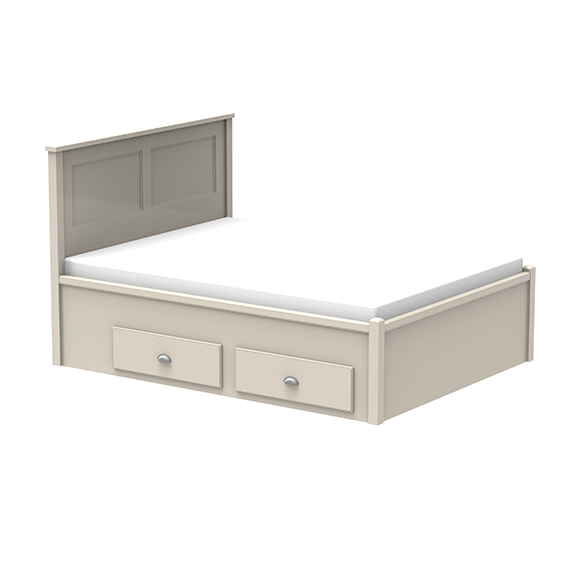 BED WITH DOUBLE STORAGE