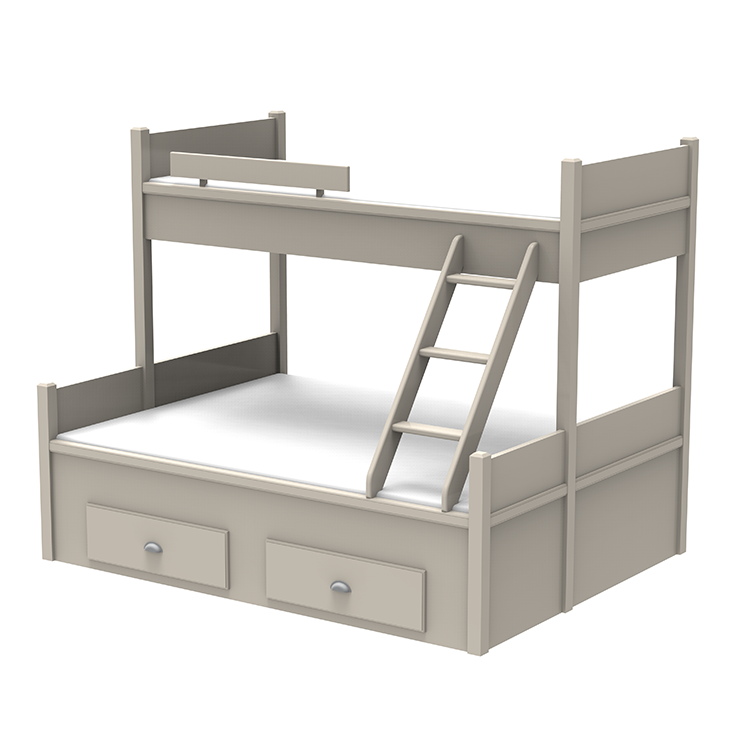 BUNK BED WITH DOUBLE STORAGE